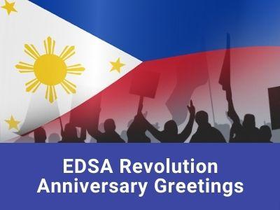 EDSA Revolution Anniversary Greetings